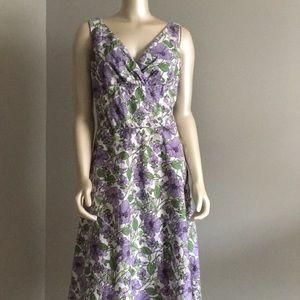 Ann Taylor Loft purple white floral dress